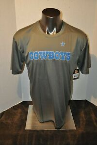 Dallas Cowboys Men's Charcoal Polyester T-Shirt multiple Sizes New With Tags