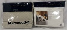 Ralph Lauren Home Wyatt STANDARD Quilted Pillowshams Set Vintage Silver