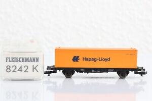 N FLEISCHMANN 8242 Containerwagen Hapaq Lloyd GÜTERWAGEN boxcar OVP..J55