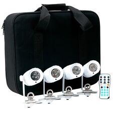 American DJ PinPoint Go Pak, 4 Battery Powered Spot LED Lights,w/ Case, Open Box