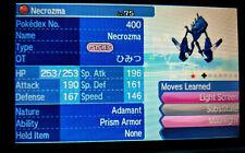 2x SHINY NECROZMA EVENT Wunschwesen Pokemon Ultra Sonne Mond ★ 6IV