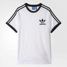 LG   adidas Originals  Men's  SLIM FIT   CALIFORNIA TEE SHIRT WHITE/BLACK  1AVL