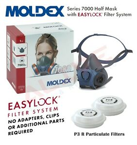 MOLDEX 7002 Reusable Half Mask Respirator with 9030 P3 R Particulate Filters
