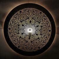 Marocaine Lanterne Murale en Laiton Lampe Mural Applique Murale Dora-Fes D80cm