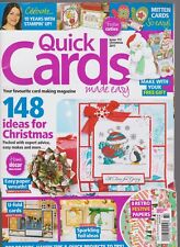 QUICK CARDS MAGAZINE CHRISTMAS 2017,148 IDEAS FOR CHRISTMAS,ONLY MAGAZINE NO GIF