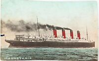 .RARE EARLY 1900'S AUSTRALIAN COLOUR POSTCARD OF THE MAURETANIA