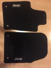 Jeep Floor Mats, 2 Piece Rug Mats, Logo, Black