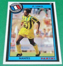 PATRICE LOKO FOOTBALL CARD PANINI 1992-1993 FC NANTES FCN CANARIS BEAUJOIRE