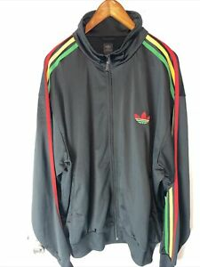 adidas track jacket 2007  red black and green 3xl