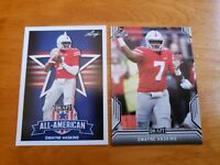 "Dwayne Haskins, Ohio State, 2019 Leaf Draft ""All-American"" & RC #27"
