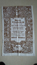 2 NEW PURE IRISH LINEN Tea Towel's SILVER JUBILEE 1977