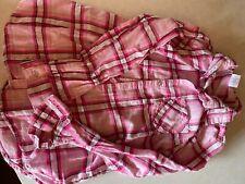 girls plaid long sleeve shirt size 8