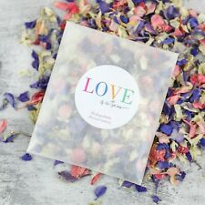 LOVE IS IN THE AIR Wedding Flower Confetti Sachet | Eco-Friendly & Biodegradable