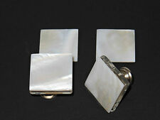 WHITE MOTHER-of-PEARL Cabinet Knobs - Square Modern Pulls - Home Décor