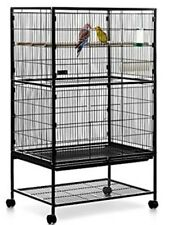 Large Bird Cage – 2 Tier Parrot Cage Metal Aviary for Budgies, Cockatiels Parrot