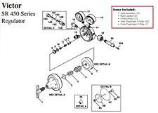 Victor Sr450d Oxygen Regulator Rebuildrepair Parts Kit 0790 0102