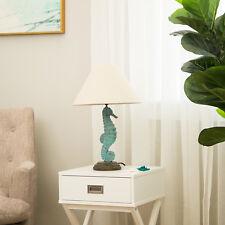 Glitzhome Coastal Beach Marine Seahorse Table Lamp Desk Lighting Nautical Decor