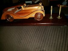 Wooden Car Desk Set Award Pen Holder