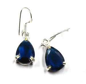 17.00Ct Elegant 925 Silver A Shiny Earrings Pair For Women Blue Topaz Jewelry