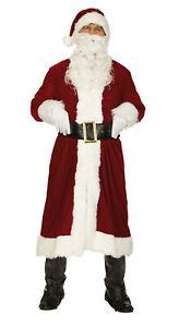 Weihnachtsmann Nikolaus Kostüm 4tlg.Weihnachten roter Nikolausmantel St.Claus