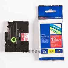 Brother Schriftbandkassette TZe-435 weiß auf rot 12mm x 8m P-touch neu ovp