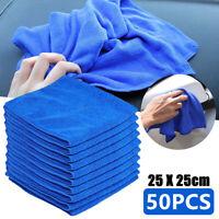 50pcs Car Cleaning Microfibre Cloths Wash Towel Soft Polishing Gym Glass Clean