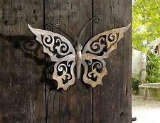 Metal Butterfly Wall Decor - Black Metal Butterfly Wall Art with Ornate Wings