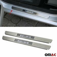 For Alfa Romeo 4C 8C LED Chrome Door Sill Brushed S. Steel Exclusive 2 Pcs