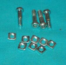 meccano 4 boulons pivot 15mm à 2 écrous, No.147e