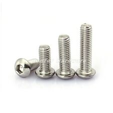 #6-32UNC Button Head Hex Socket Screws A2 Stainless Steel ANSIB18.3BT