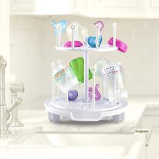 Baby Bottles Spin Drying Rack Holder Dryer Large Capacity Bottle Organizer White