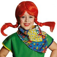 Freche Göre Kostüm freches starkes Mädchen Kinder Wirbelwind Damen Kleid Perücke