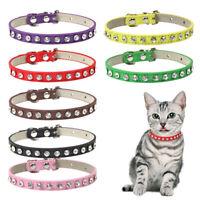 Pet Small Dog Cat Puppy Harness Rhinestone Collar Necklace Adjustable XS/S