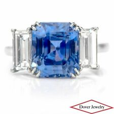 GIA Diamond 7.04ct Kashmir No Heat Sapphire Platinum Engagement Ring 6.2 Grams