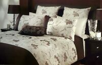 Coco Duvet Doona | Quilt Cover Set |  225TC Percale, Embroidered Flowers | Queen
