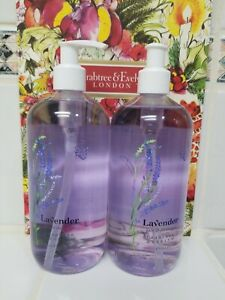 2 X Crabtree & Evelyn LAVENDER Bath & Shower Gel  16.9 Fl OZ NEW