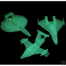 12 Glow in the Dark UFO Spaceship Outer Space Alien Party Goody Bag Favor Supply