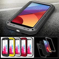 Waterproof Metal Aluminum Gorilla Glass Case Cover For LG G3 G4 G5 G6 V10 CLASS