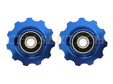 New MTB Road Bike Derailleur Jockey Wheel Solid Pulley Shimano 11T Blue
