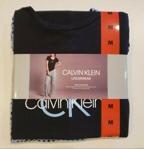 CALVIN KLEIN Women's Blue PJ's Pajamas Size Medium M Polka Dots T-Shirt NWT