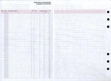 """10 Formblätter A5 """"Aktivitäten-Checkliste/Aufgaben-Kontrolle"""" Original TIME/SYST"""