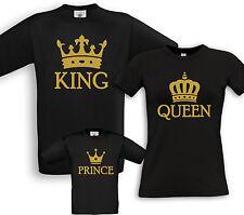 KING + QUEEN + PRINCE - Familien Partner Shirts - Geburtstag Geschenk Taufe