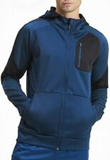 Puma evoStripe Warm Full Zip Mens Hoody Blue Stylish Gym Training Workout Hoodie