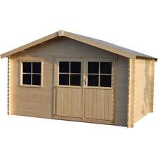 Casetta in legno rettangolare box giardino casetta attrezzi 400x298cm Fiori