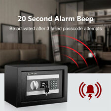 Electronic Digital Cabinet Security Box Case Home Office Jewelry Cash Storage Us