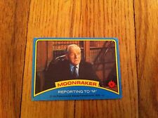 "1979 Moonraker James Bond Trading Card #9 Vintage Movie Film Reporting To ""M"""