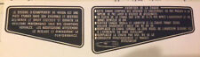 HONDA CB750F CB900F FOOTREST PLATE CAUTION WARNING DECALS IN FRENCH TEXT