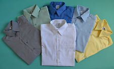 NEW unisex Short Sleeve School Formal Shirt Many Colours size 5,6,8,10,12,14,16