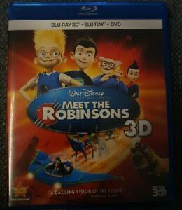 Meet The Robinsons 3D Blu-ray + Blu-ray + Dvd (3 Disc Set) Rare OOP