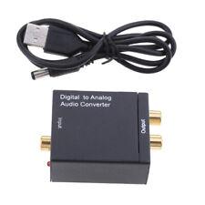 Digital zu Analog Audio Converter, Toslink SPDIF Koaxial zu RCA R / L
